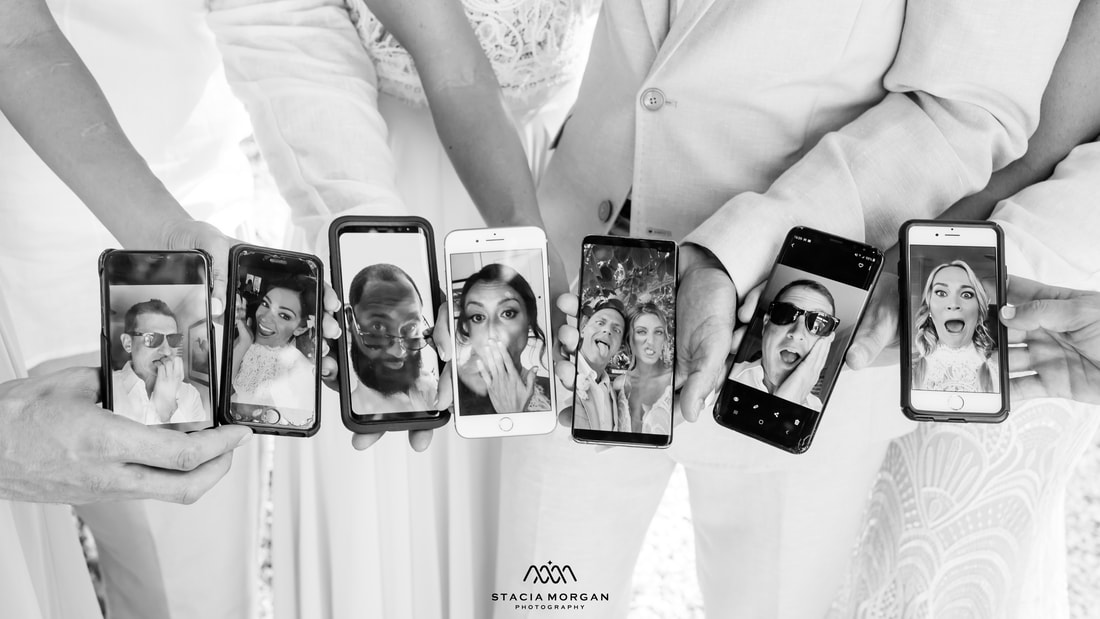 South Florida wedding, cell phones